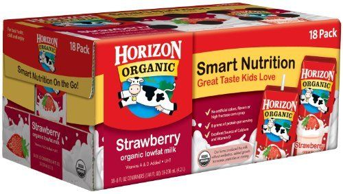 Horizon Organic Strawberry Milk 80 Oz Carton 18 count