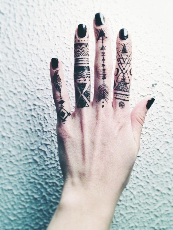 Tattooed Fingers Finger Tattoo Designs Lace Tattoo Design