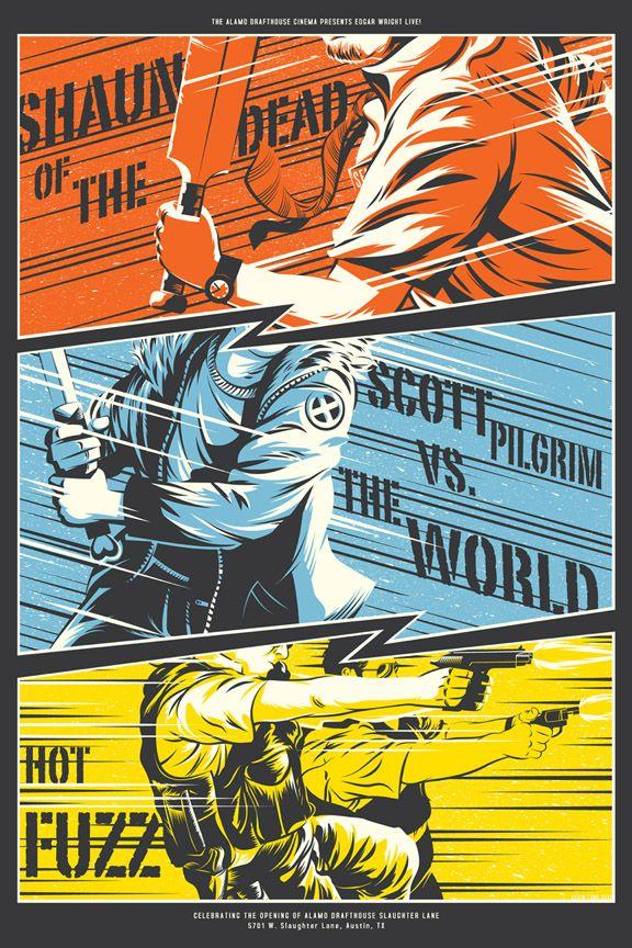 Shaun Of The Dead Scott Pilgrim Vs The World Hot Fuzz Mondo