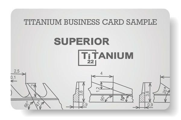 Blank Anium Business Card Edc