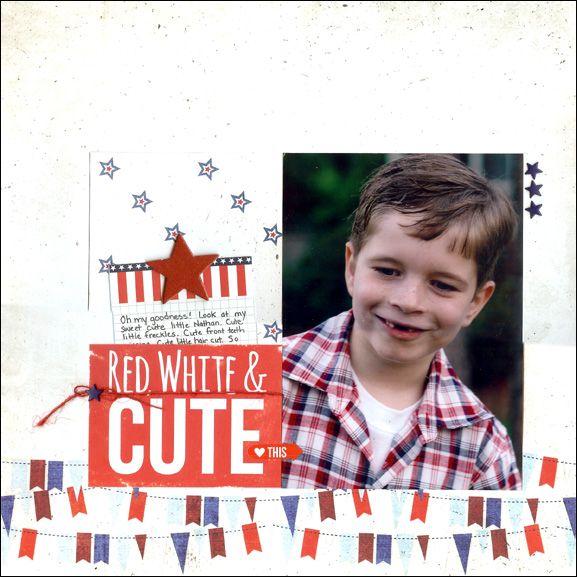 Red White & Cute - Scrapbook.com - Sea to Shining Sea Simple Set