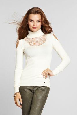 50f1f5412319e Long-Sleeve Cold Shoulder Turtleneck Sweater
