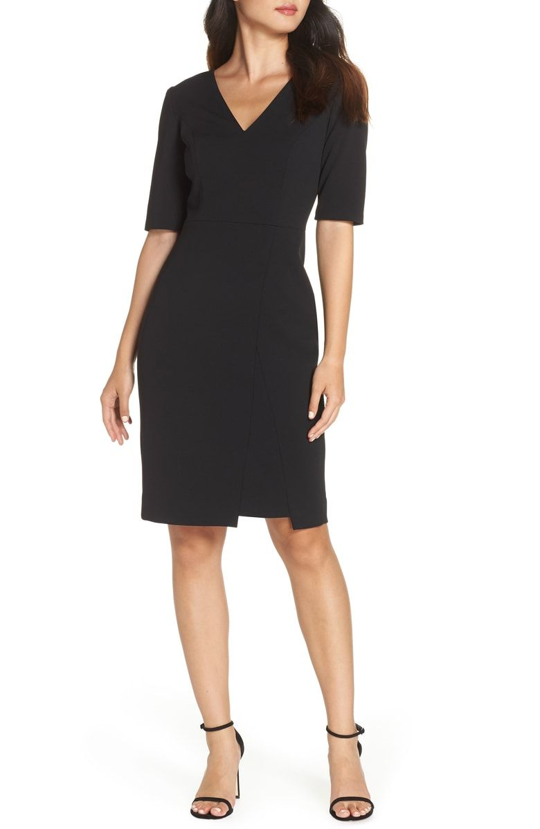 Vince Camuto Scuba Crepe Sheath Dress Nordstrom Nordstrom Dresses Work Dresses For Women Sheath Dress [ 1196 x 780 Pixel ]