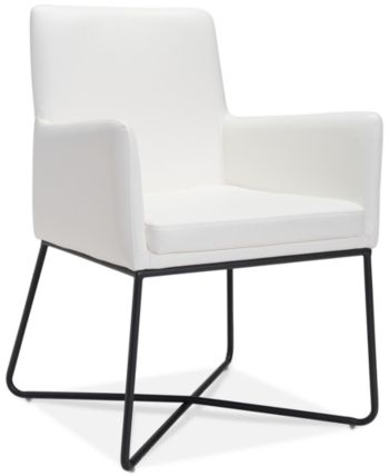 Kevan Dining Chair Quick Ship White Leather Dining Chairs