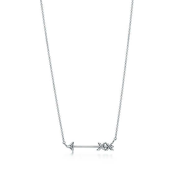 Arrow Pendant Silver Pendant Necklace Tiffany Necklace