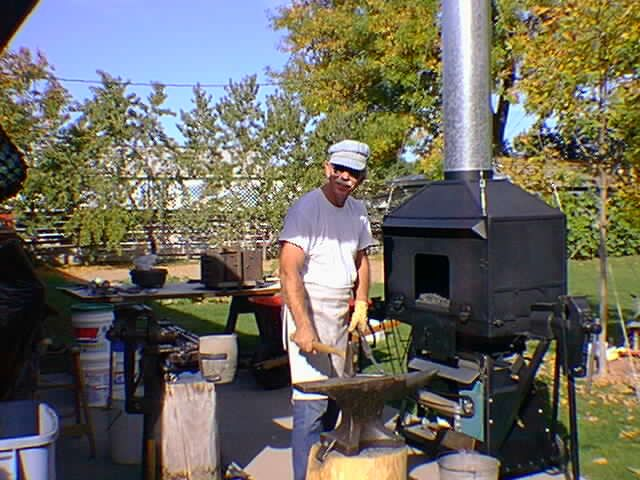 Ron's Forge Page   Forging, Backyard, Blacksmithing