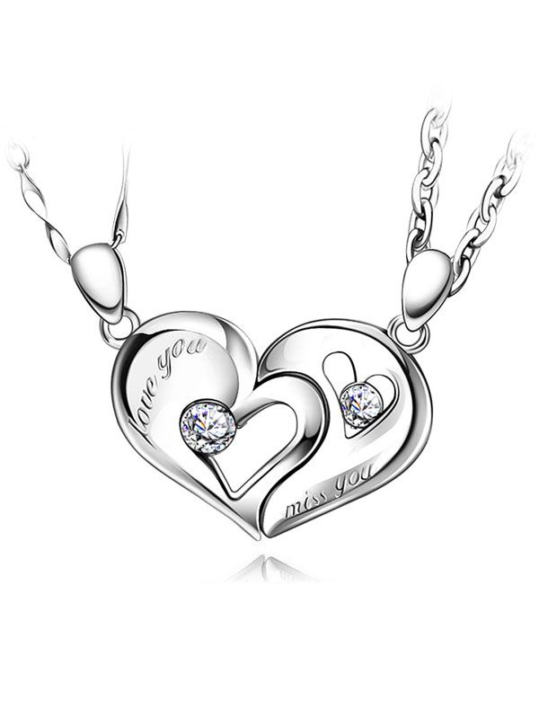 f3ecc4a1b8 Matching Interlocking Broken Heart Pendants Set for Couples @ iDream-Jewelry .Com