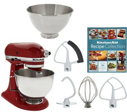 Kitchenaid 4 5qt 300w Tilt Head Mixer With 3qt Bowl K43826 Kitchen Aid Kitchen Aid Recipes Kitchen Aid Mixer