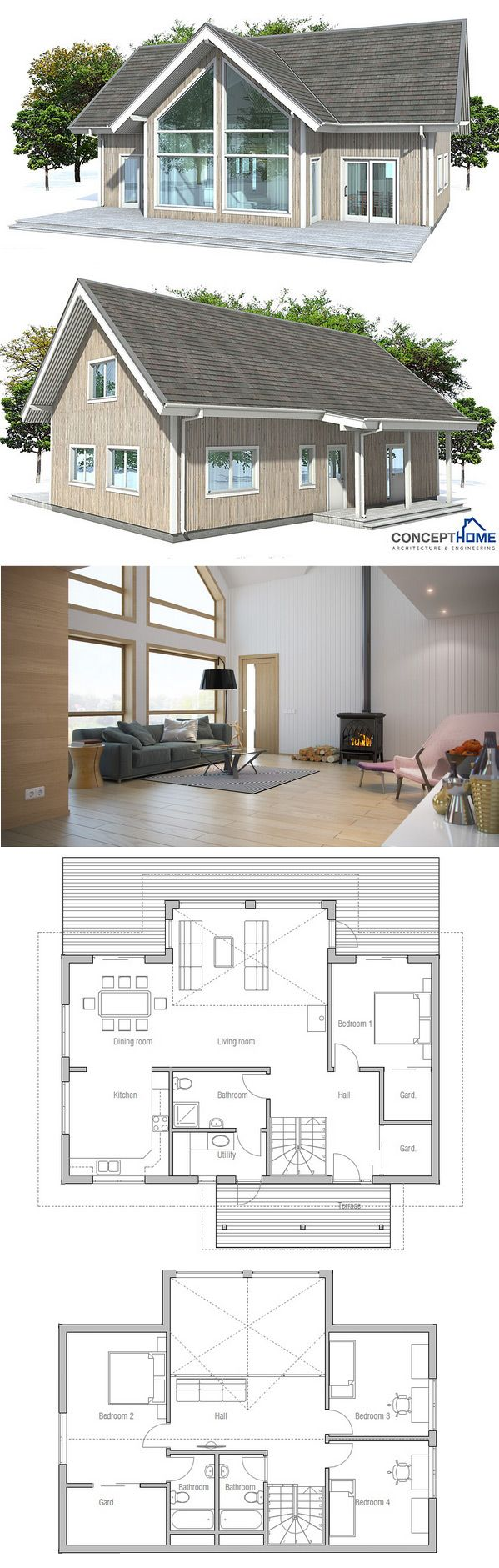 Desertroseplan De Petite Maison Architecture