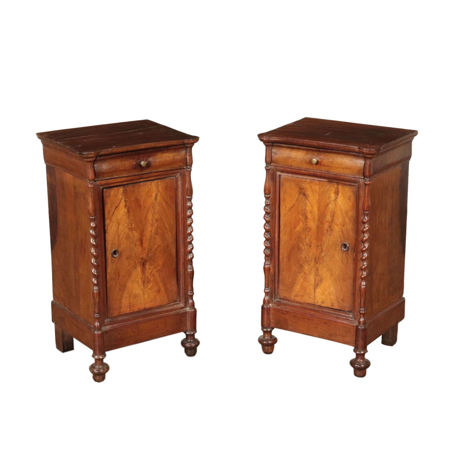 Best Pair Of Walnut Nightstands Italy Mid 19Th Century 640 x 480