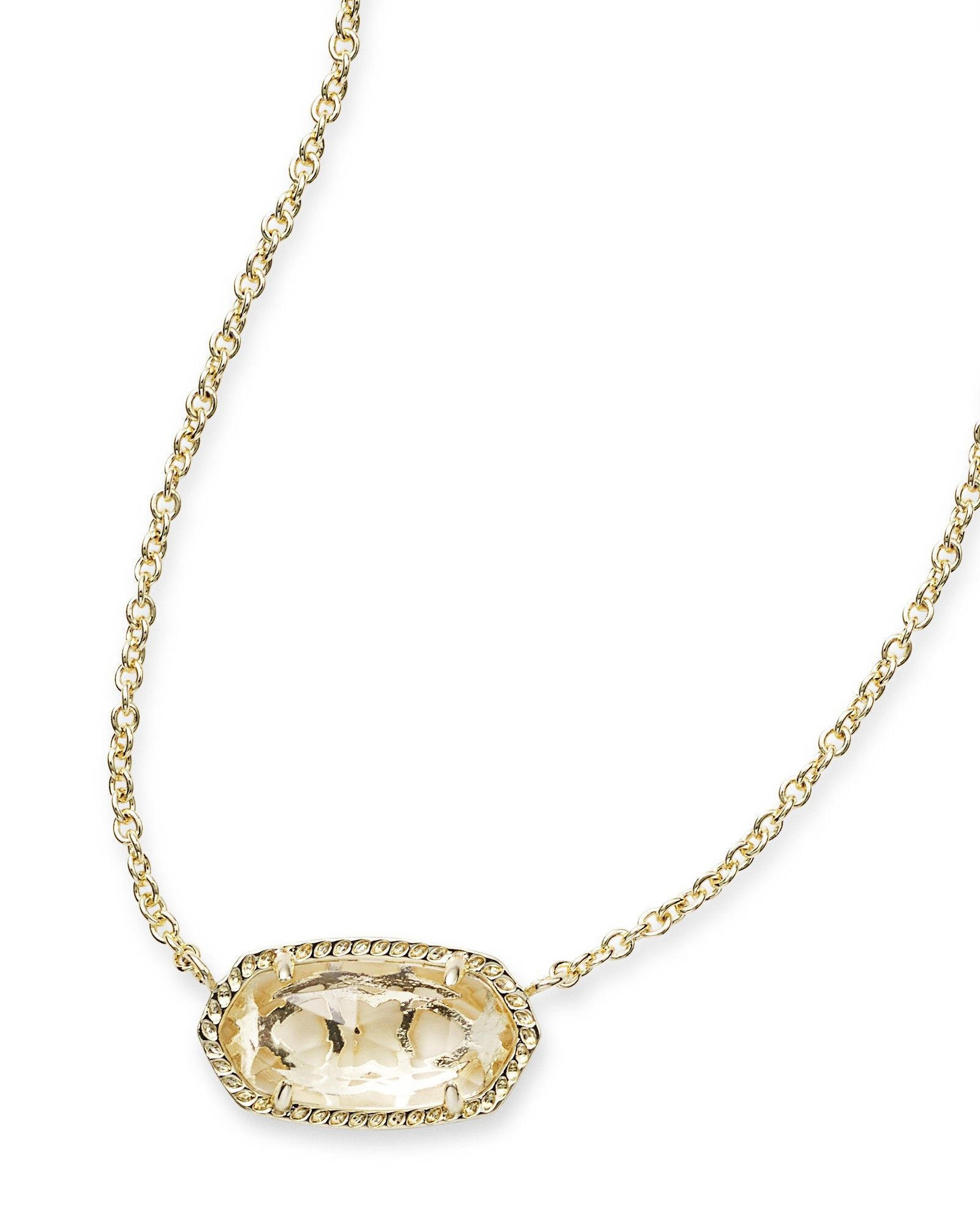 Kendra scott elisa pendant necklace in clear crystal crystals