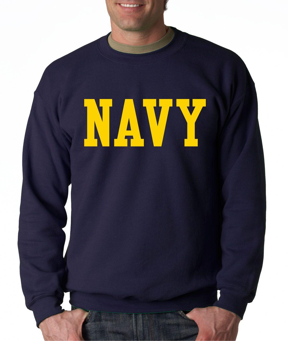 Navy Block Crew Neck Gold Military Sweatshirt Blend Seal Us U S Navy Usnavy Hoodies Men Sweatshirts Sweatshirts Hoodie [ 1419 x 1200 Pixel ]