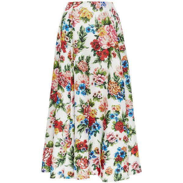 Emilia Wickstead Eleanor Skirt (146.145 RUB) ❤ liked on Polyvore featuring skirts, floral print skirt, floral print a-line skirt, floral printed skirt, emilia wickstead and vintage skirts