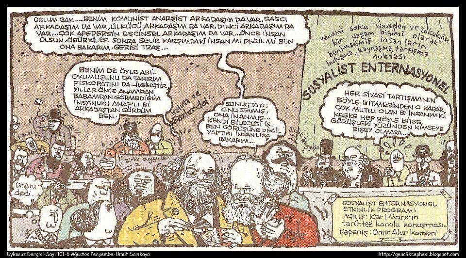 Sosyalist Enternasyonel Caricature Comics Vintage World Maps