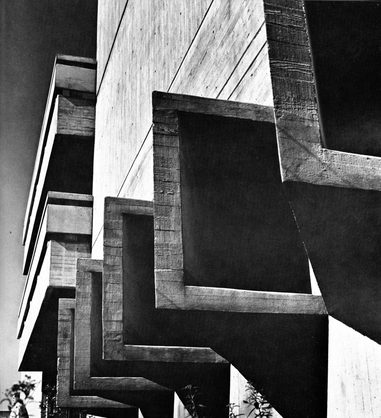 Engineering precinct sydney university new south wales 1960s · concrete architecturemodern
