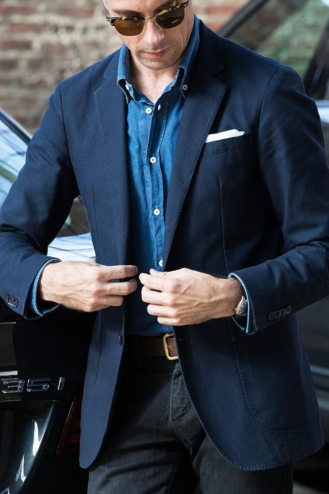 Did Somebody Say Tie Optional He Spoke Style Jeans Outfit Men Denim Shirt Men Mens Outfits