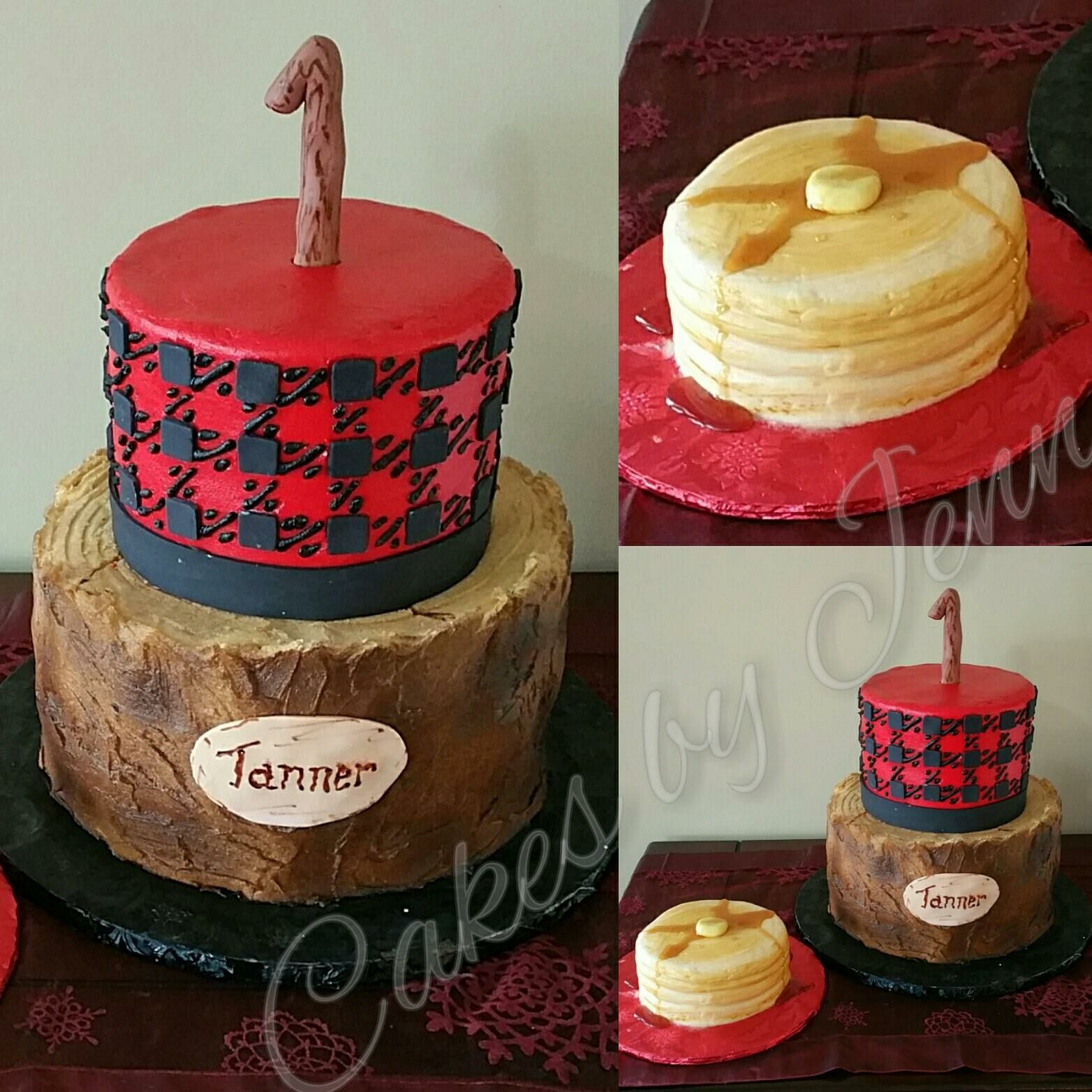Lumberjack Buffalo Plaid Themed Cake  Smash Cake Buttercream - Buffalo birthday cake