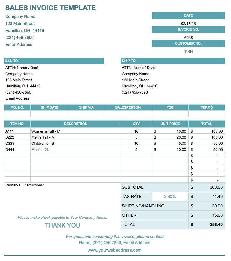 Free Blank Invoice Template Excel Pdf Word Invoice Template Invoice Template Word Template Google