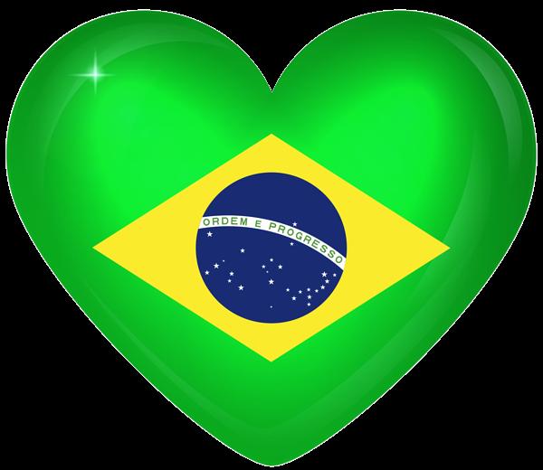 Brazil Large Heart Flag Bandeira Do Brasil Png Bandeira Do Brasil Bandeira Nacional Do Brasil