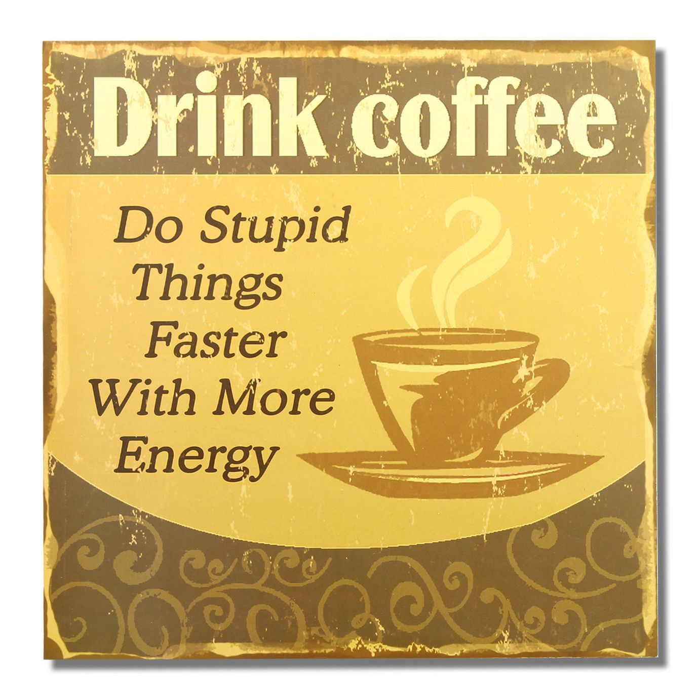 Drink Coffee Wall Décor | Products | Pinterest | Drink coffee ...