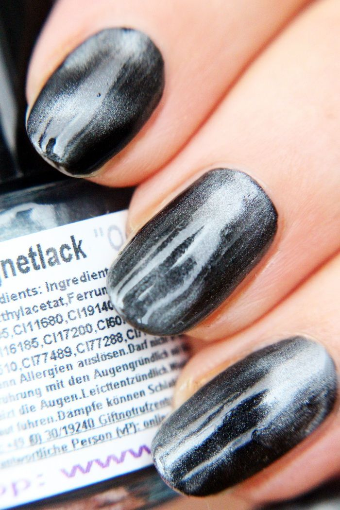 Magnetic nailpolish nailart