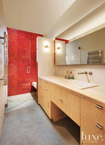 Funcional ducha con banco y puerta de vidrio templado ...