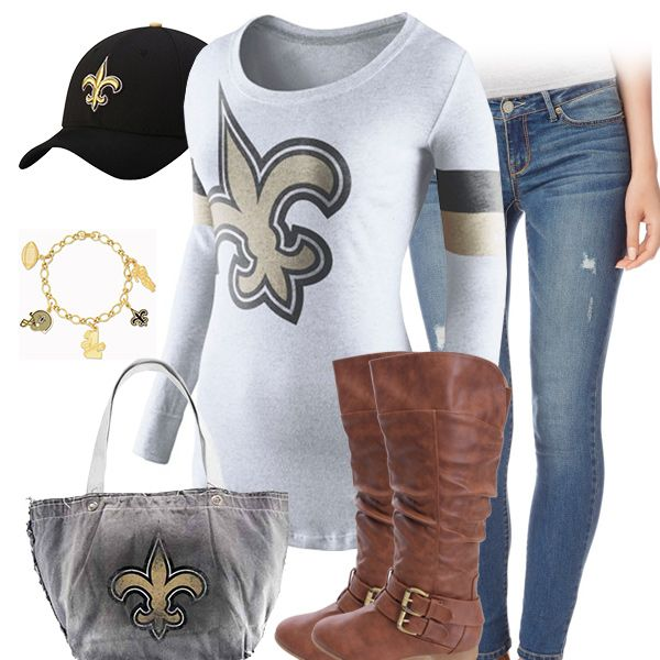 best sneakers f6eaa e88b2 Cute New Orleans Saints Outfit | New Orleans Saints Fashion ...