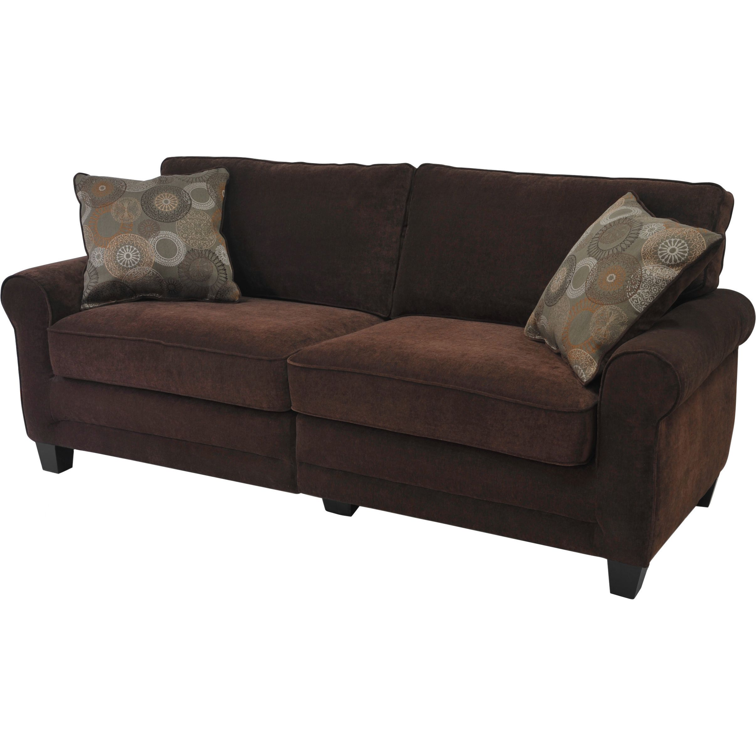 serta trinidad collection chocolate deluxe sofa overstock com rh pinterest com au