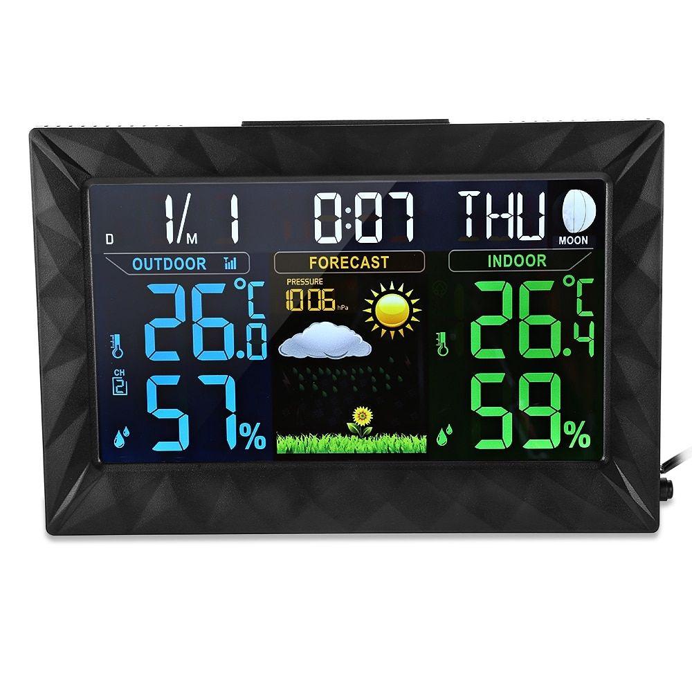 Digital Home Wireless Weather Station Table Desktop Calendar Alarm Clock Thermometer Hygrometer Temperature Humidity Meter Measurement & Analysis Instruments