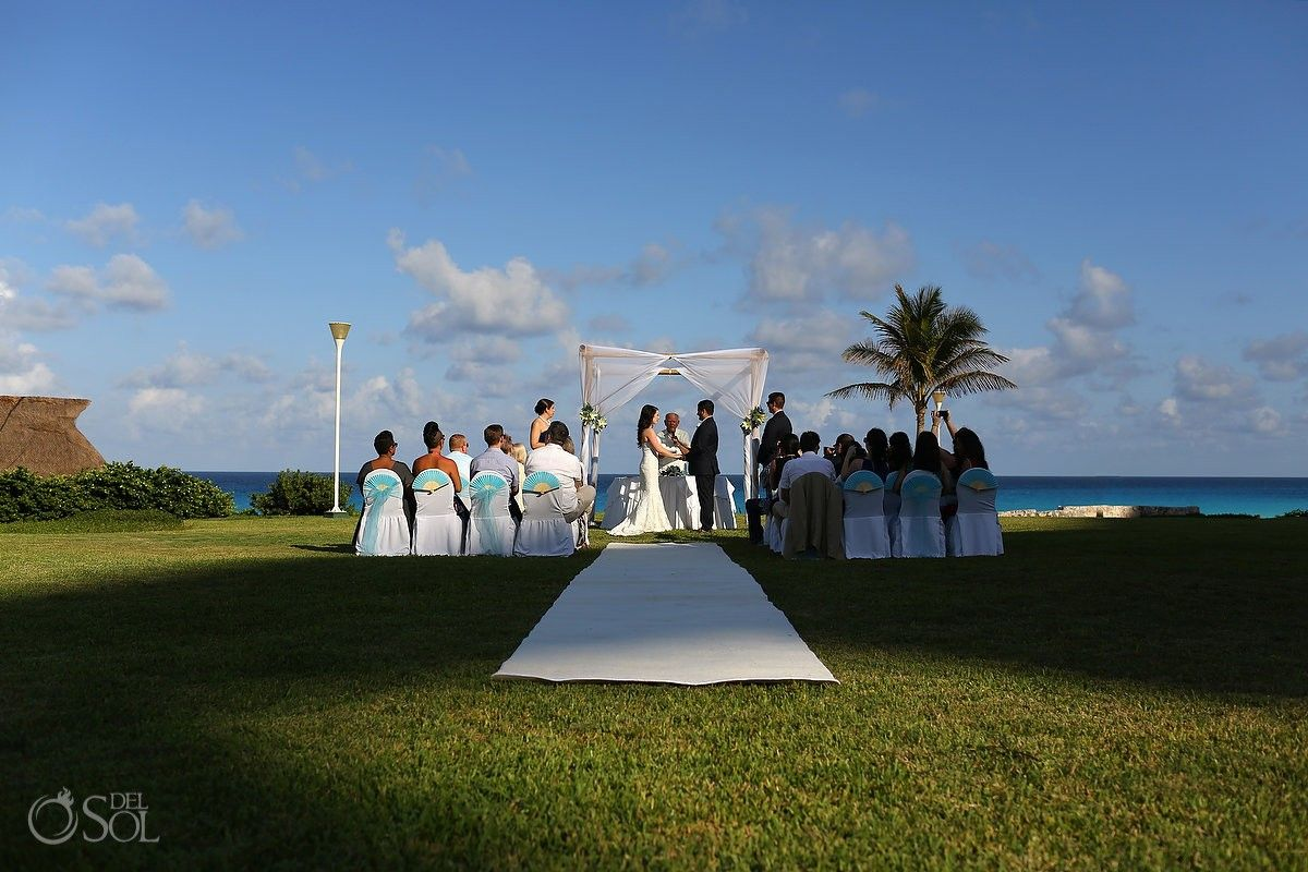 Ceremony Set Up In The Garden Of Iberostarsm Cancun Mexico Wedding Photographers Del Sol Photography
