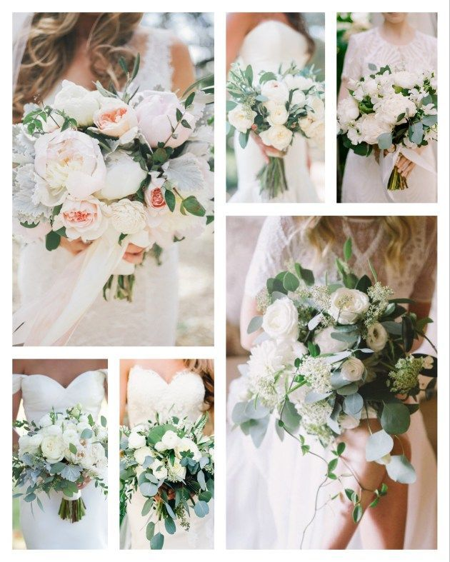 Brautstrauß, Eucalyptus, Weiß Creme Grün, Moderne Hochzeit, Blumen Hochzeit #whitebridalbouquets