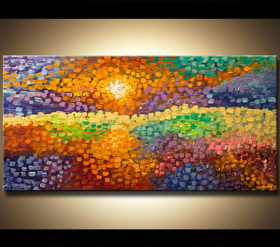 Original abstract art paintings by Osnat - colorful abstract ...