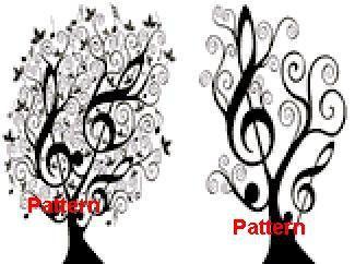 Music Tree N3. Counted Cross Stitch Pattern. PDF Files