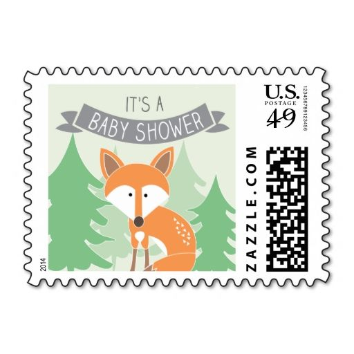 Little Fox Baby Shower Stamp. It is really great to make each letter a special delivery! Add a unique touch to invites or cards with your own photos or text. Just click the image to learn more!