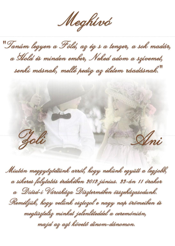 984bcbd66c Meghívó szöveg   Esküvői meghívók   Esküvői meghívó, Meghívó 및 Esküvő