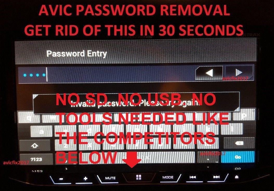 $12 99 - Password Unlock Removal For Pioneer Avh-4000Nex
