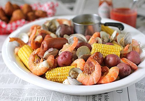 one of my faves ~ Low Country Boil: everything in one pot