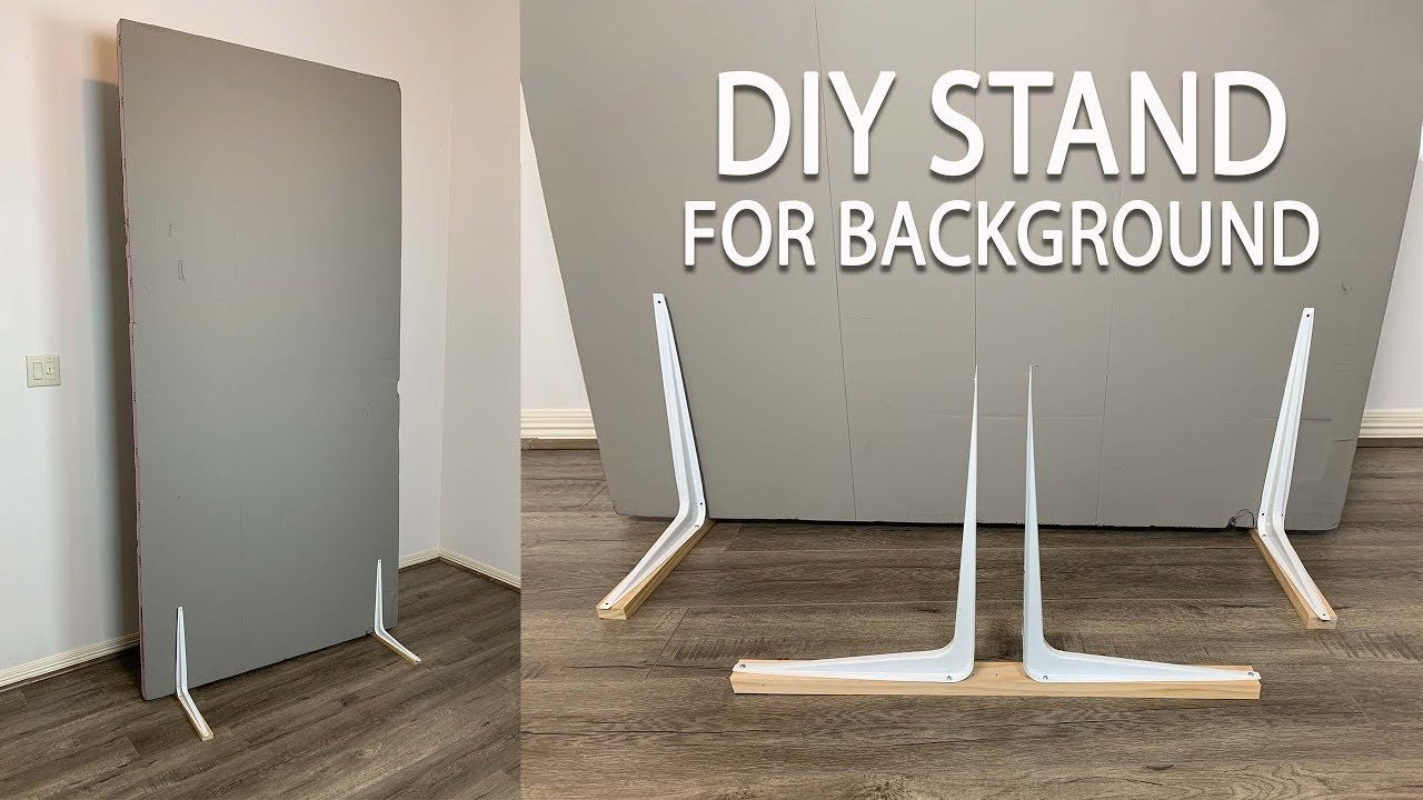 Diy Stand Holders For V Flat Background Board Background Diy Flat Background Diy Photography