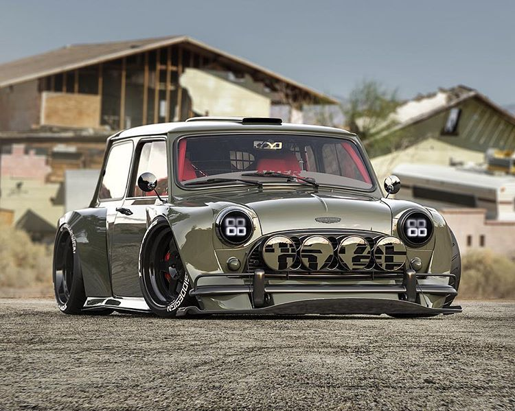 Austin Mink Cooper Fans And Owners Around Bet You Can T Guess The Year Of This Not So Mini Mini Mini Cooper Custom Cars Mini Cars