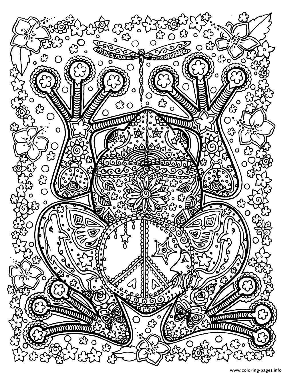 Adult Animals Big Frog Coloring Pages Printable And Book To Print For Free Find More Online Kids Adults Of