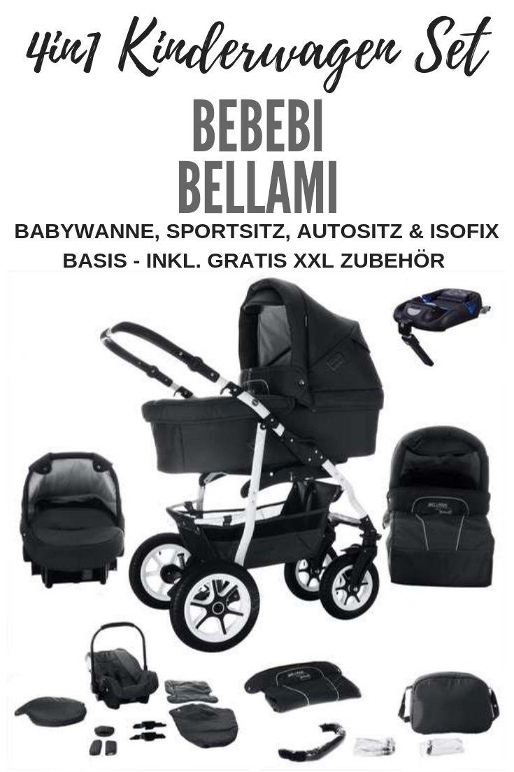 Bebebi Bellami Luftreifen In Weiss 4 In 1 Kinderwagen Isofix