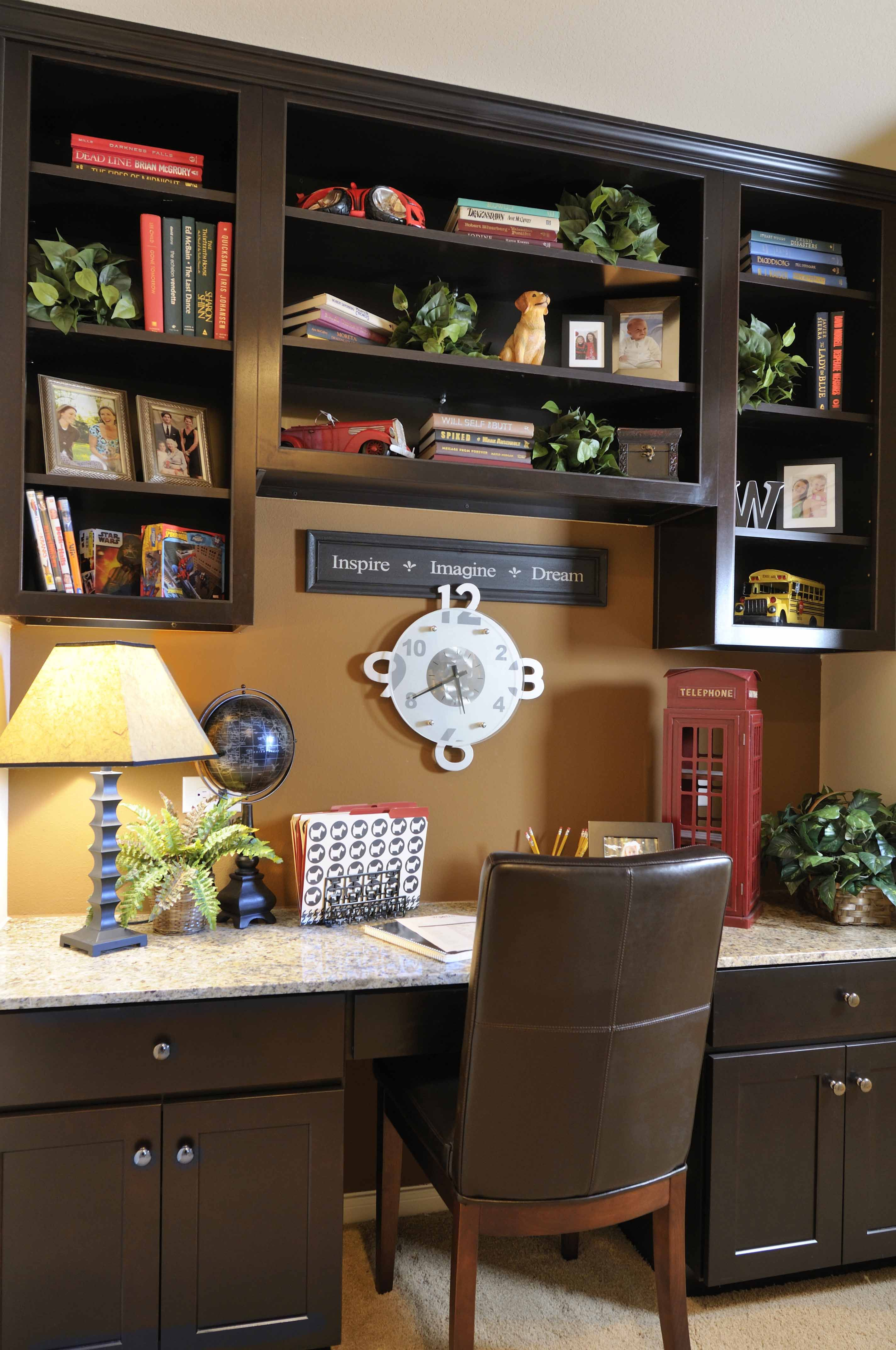 Westin Homes - Summerwood - New Homes Houston - Built In Bookcase - Study  Nook