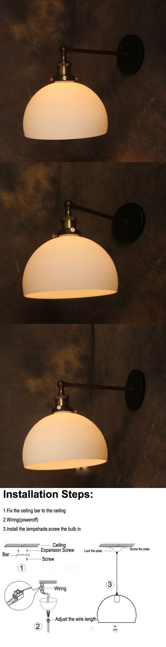 New Vintage Small Wall Light Rh Loft L Lamps For Home Decoration Wiring Lights In Attic Restaurant Dinning Room E27