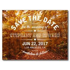 Explore Autumn Forest November Wedding And More Save The Date