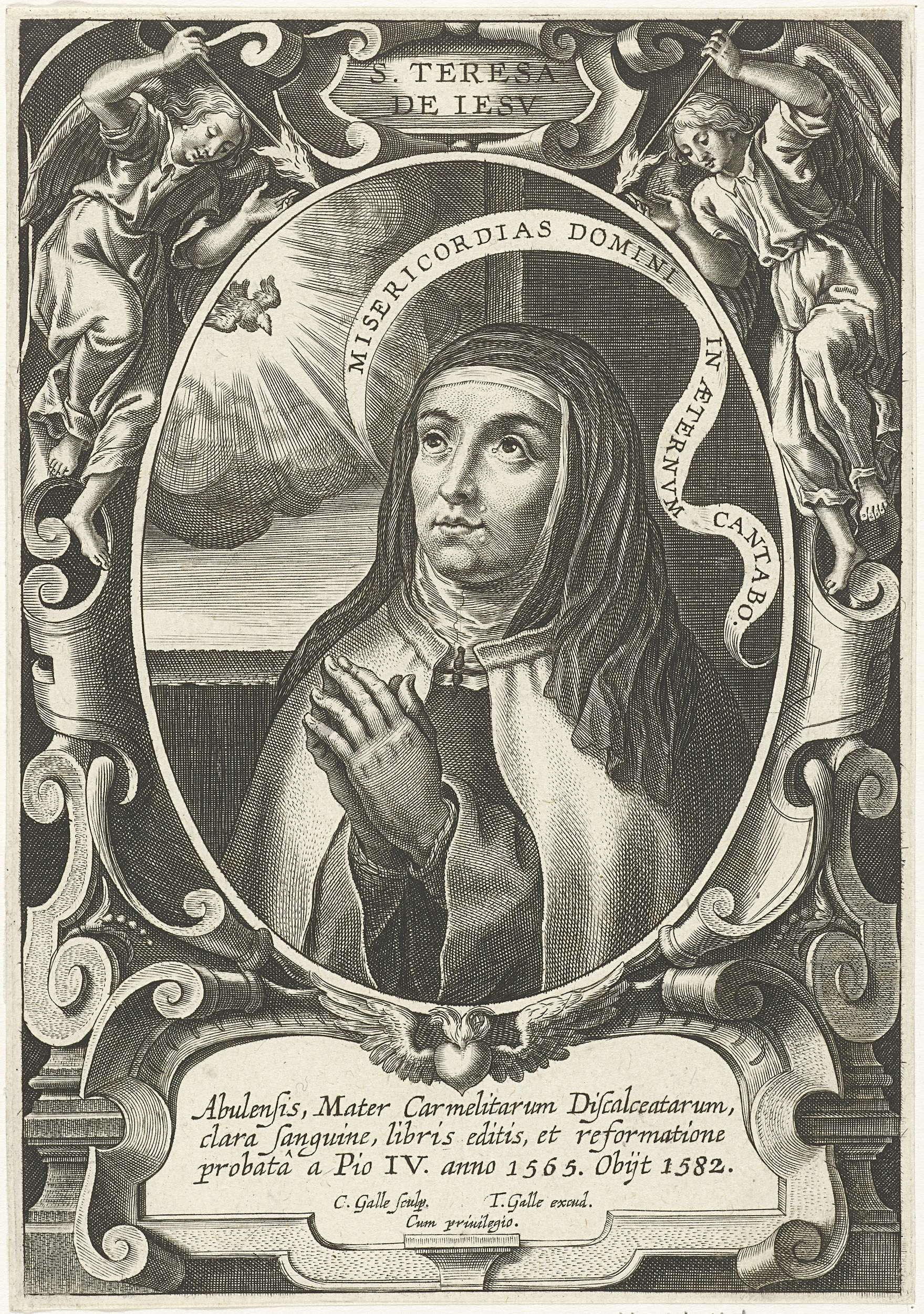 Cornelis Galle I H Theresia Van ávila Cornelis Galle