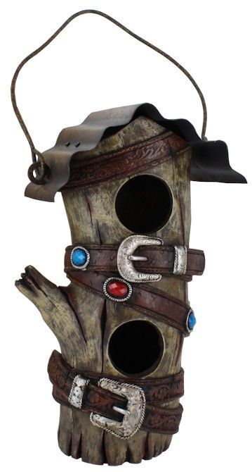 Best Western Hollow Wood Looking Birdhouse With Metal Roof And 400 x 300