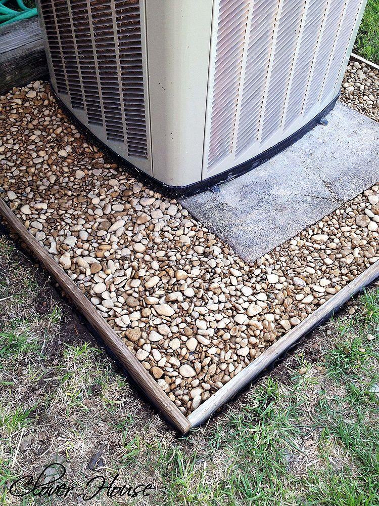 Fence Picket A/C Unit Cover Backyard, Backyard