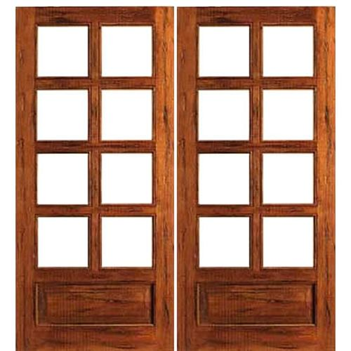 Aaw Inc Rustic 8 Lite Panel Double Interior French Doors 8 Lite Solid Rustic French Door With Panel Bo French Doors French Doors Interior French Door Shutters