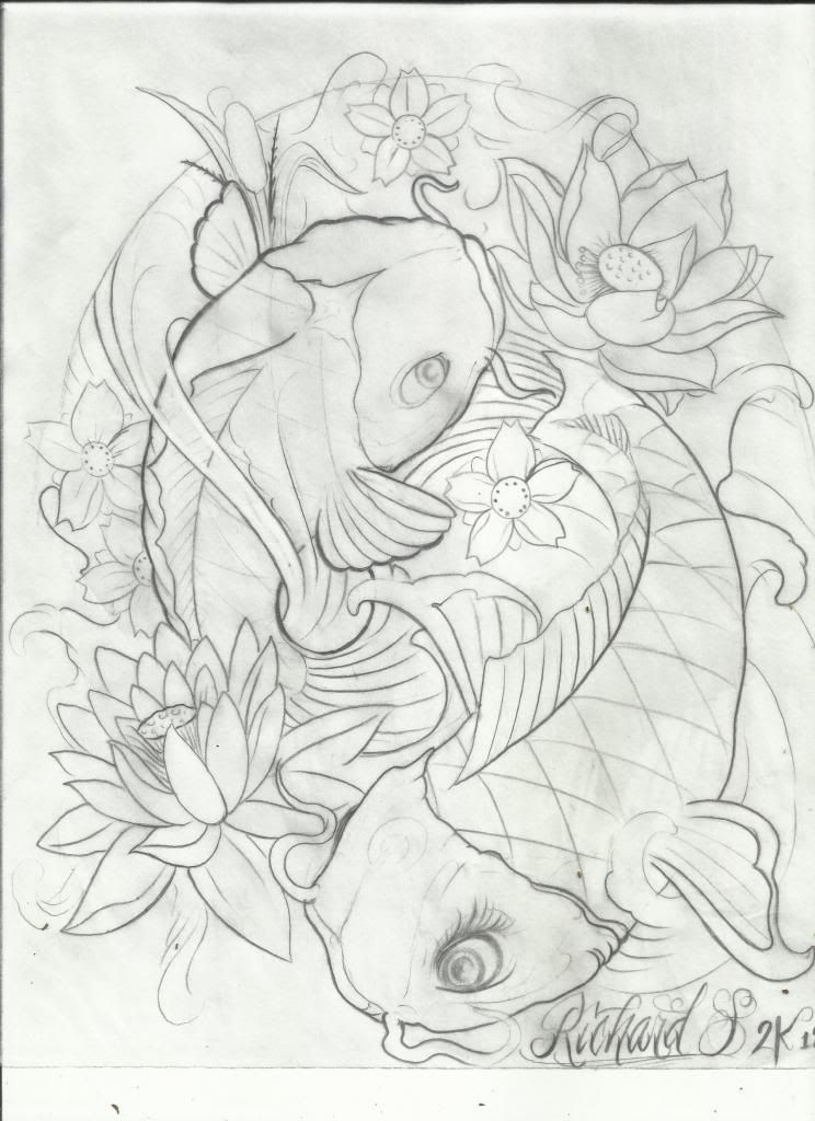Pin By Samira Hagh On Emroooz Koi Tattoo Design Fish Drawings Koi Art