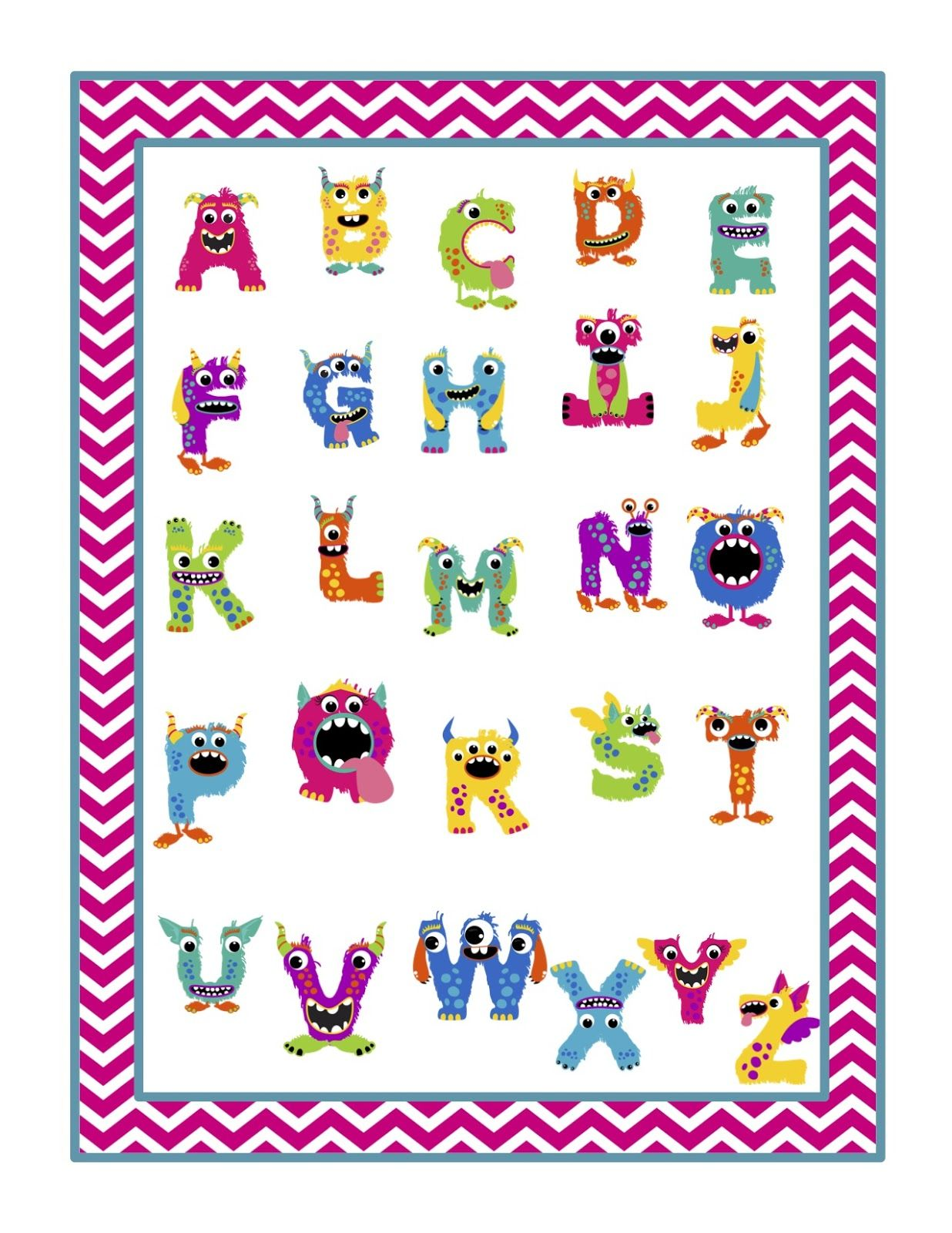 Alphabet monstres th me monstres rigolos pinterest - Images de monstres rigolos ...